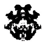 Rorschach inkblot Royalty Free Stock Photography