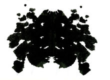 Rorschach inkblot test illustration Stock Image