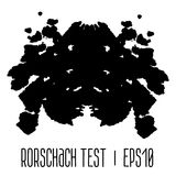 Rorschach inkblot test illustration Stock Photo