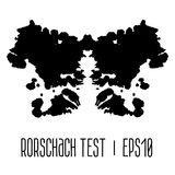 Rorschach inkblot test illustration Stock Images