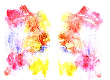 Rorschach inkblot test illustration. Random abstract background royalty free illustration