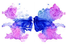 Rorschach inkblot test illustration royalty free illustration
