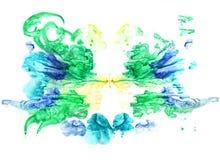 Rorschach inkblot test illustration Stock Photo