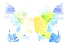 Rorschach inkblot test illustration Stock Image