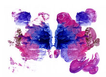 Rorschach inkblot test illustration Royalty Free Stock Photography