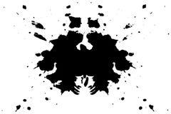 Rorschach inkblot test illustration, symmetrical abstract ink stains. Rorschach inkblot test illustration, random symmetrical abstract ink stains. Psycho vector illustration