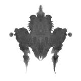 Rorschach inkblot test isolated on white Royalty Free Stock Image