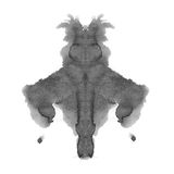 Rorschach inkblot test isolated on white Stock Images