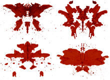 Rorschach set Obrazy Royalty Free