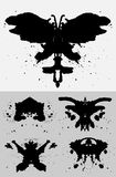 Rorschach Set. Collection of Inkblots inspired by the famous Rorschach Test Stock Photo