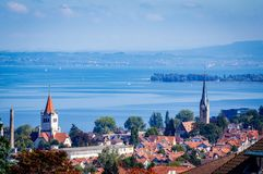 Rorschach situated on Lake Konstanz Switzerland. Very much one of the main tourist attractions and points of interest in the area royalty free stock photography