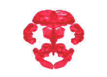 Rorschach test. Abstract symmetric painting, Rorschach test vector illustration