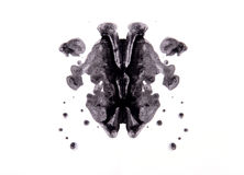 Rorschach test. Abstract symmetric painting, Rorschach test stock illustration