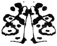 Rorschach Test. Ink blot for psychiatric evaluations stock illustration
