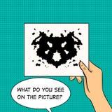 Rorschach testa wystrzału sztuki wektoru ilustracja Fotografia Stock