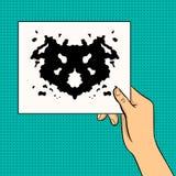Rorschach testa wystrzału sztuki wektoru ilustracja Zdjęcia Royalty Free