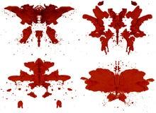 Rorschach uppsättning Royaltyfria Bilder