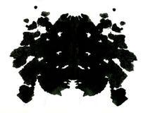 Rorschachinkblot testillustratie Stock Afbeelding