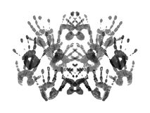 Rorshach测试样品  库存照片