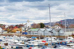 Rorvik, Norwegian fishing village landscape Stock Image
