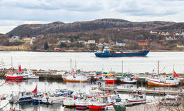 Rorvik, Norwegian fishing village landscape Stock Photography
