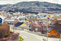 Rorvik, Norwegian town with colorful wooden houses Stock Photo