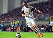 Rory Donnelly i Petrolul Ploiesti-Swansea FC Arkivbilder