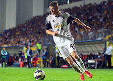 Rory Donnelly in Petrolul Ploiesti-Swansea FC Stock Images