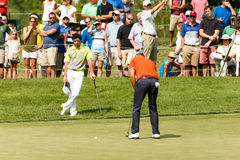 Rory McIlroy and Luke Guthrie at the Memorial Tournament Stock Photography