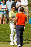Rory McIlroy and Luke Guthrie at the Memorial Tournament Royalty Free Stock Photos