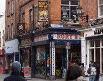 Rory po?owu sprz?tu sklep w ?wi?tynia barze, Dublin fotografia stock