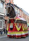 Ros Balatum Carnival Aalst Arkivbilder