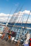Ros para viajantes na ponte de Galata Foto de Stock Royalty Free