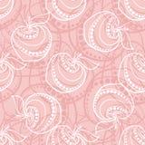 Rosa äpplemodell Arkivbild