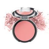 Rosa ögonskuggaskönhetsmedelprodukt Fotografering för Bildbyråer
