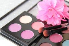 Rosa ögonskuggor arkivfoton