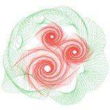 Rosa översiktsteckning för blommor vektor illustrationer