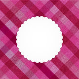 Rosa abgestreifte Jeanskarte vektor abbildung