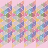 Rosa abstrakt bakgrund av kulöra trianglar stock illustrationer