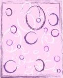 Rosa abstrakt bakgrund med cirklar vektor illustrationer