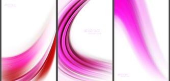 Rosa abstrakte Hintergrundspitzentechnologiesammlung Lizenzfreie Abbildung