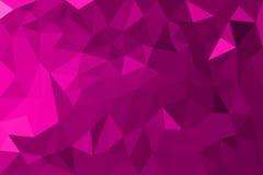 Rosa abstrakter geometrischer dreieckiger Polygonartillustrations-Grafikhintergrund Stockbild