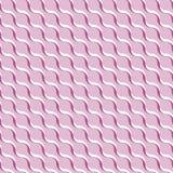 Rosa abstrakter gewellter Hintergrund 3D-like Vector nahtloses Muster lizenzfreie abbildung