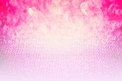 Rosa abstrakter glänzender Funkeln bokeh Hintergrund, hübsche Räume der einfachen Gebrauchsschönheit als zeitgenössischer Hinterg Stockfotos