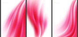 Rosa abstrakter Hightechhintergrund Lizenzfreie Abbildung