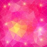 Rosa abstrakter polygonaler Hintergrund. Kann für Tapete, p verwendet werden Stockfotos