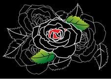 Rosa abstrata ilustração royalty free