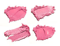Rosa Abstrichfarbe von kosmetischen Produkten Lizenzfreies Stockbild