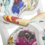 Rosa Akzent-Stuhl err?ten Stuhl-multi gelegentliches hei?es, Lillian August Albert Tufted Floral Upholstered Chair, JACEY-BLUMENp stockbilder