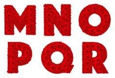 Rosa alfabetuppsättning - alfabetversalM-R Fotografering för Bildbyråer